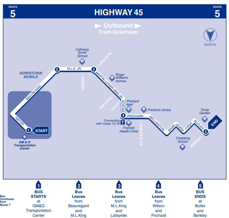 Highway 45 Outbound map