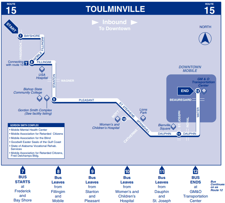 Toulminville Inbound Map